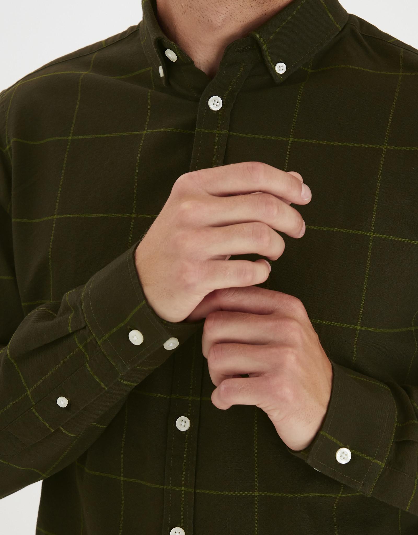 Casual Friday Casual Friday-Checked Oxford Shirt 3513