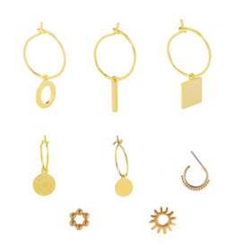 Make My Day Jewellery - Earring a Piece Gold(Per Stuk)