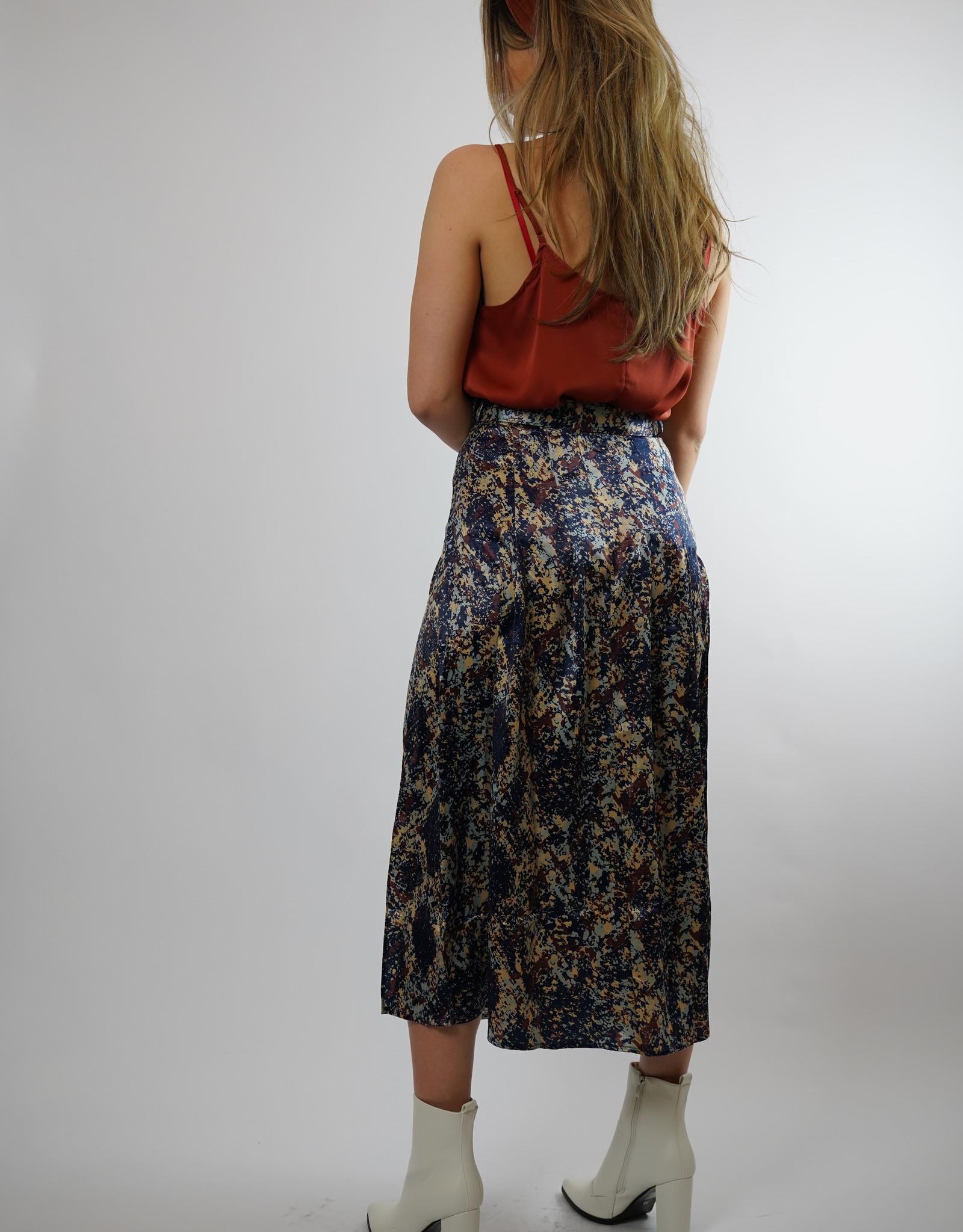 Make My Day Make My Day Satin Snake Skirt Midi