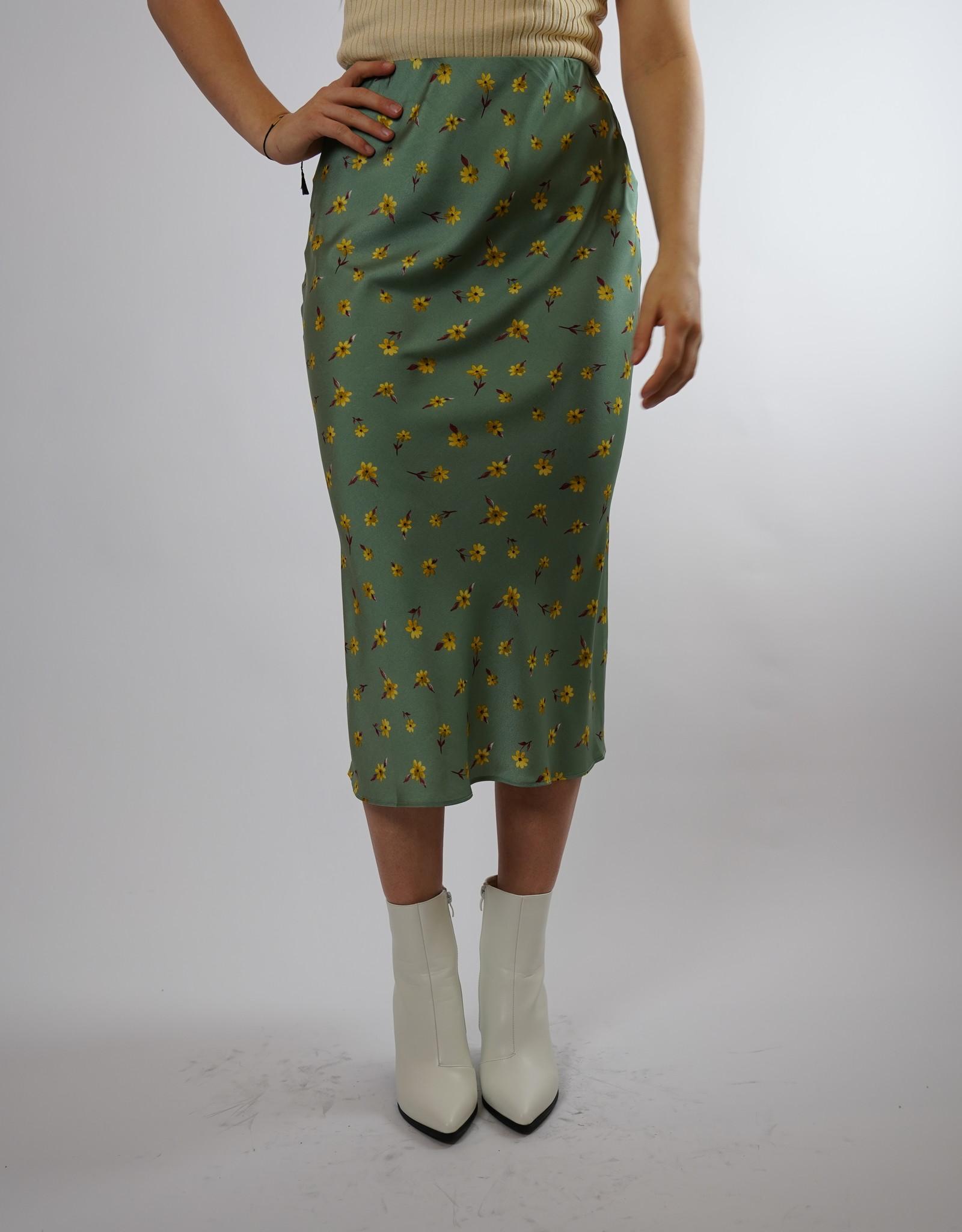 Make My Day Make My Day Satin Skirt Flower