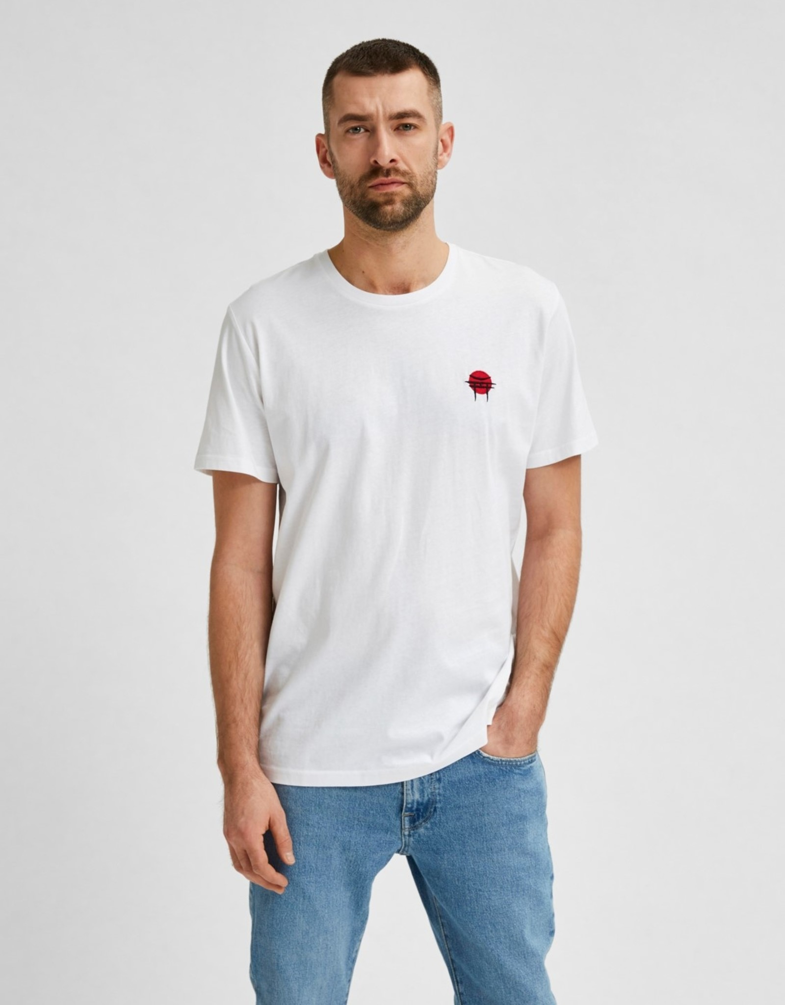 Selected Homme AW20-1-SE-Andre Tee 80401