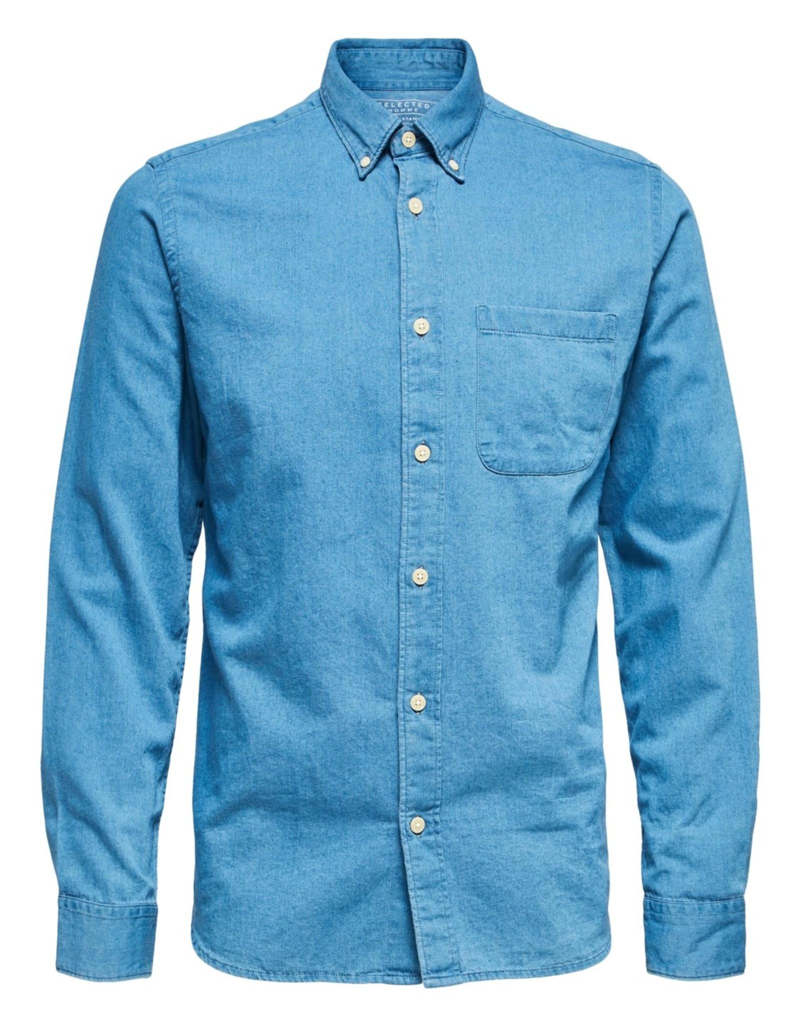 Selected Homme SS21-1-SE-Regrick Denim Shirt 77358