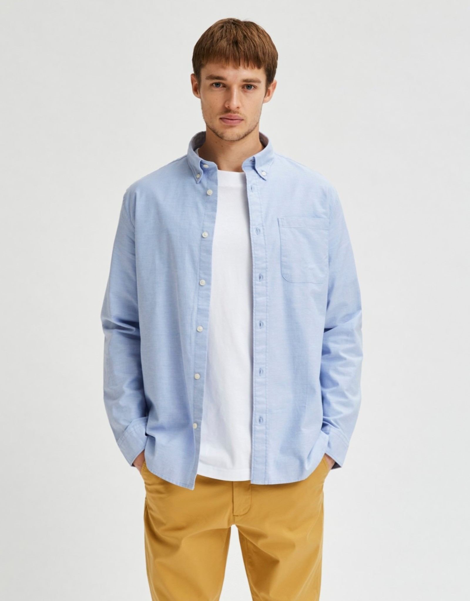 Selected Homme SS21-1-SE-Regrick Ox Flex Shirt 77359