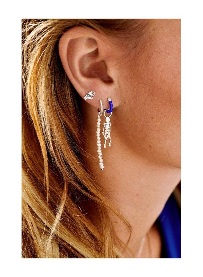 Anna + Nina Enamel Indigo Blue Earring