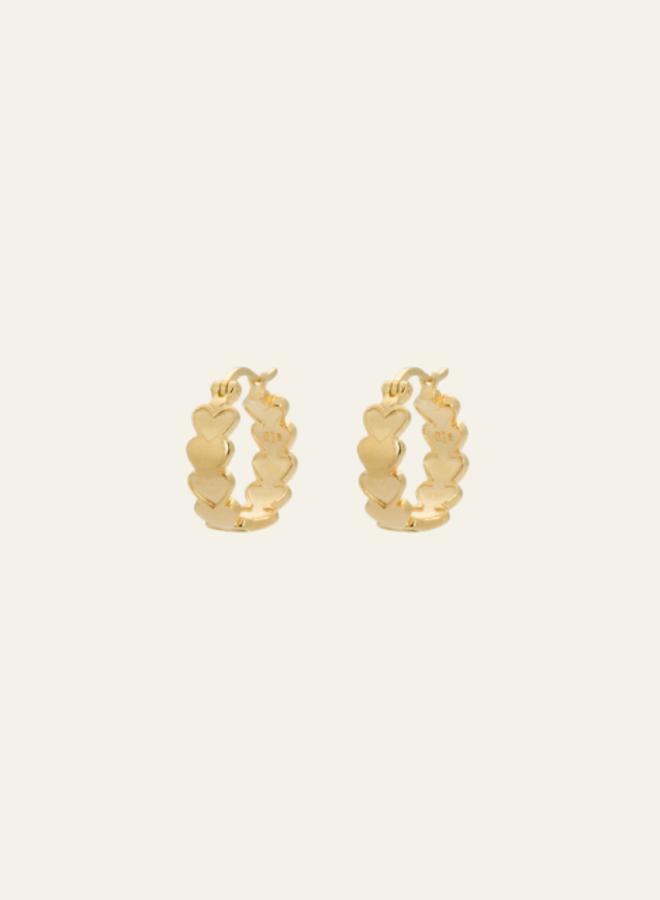Anna + Nina Amor Plain Ring Earring