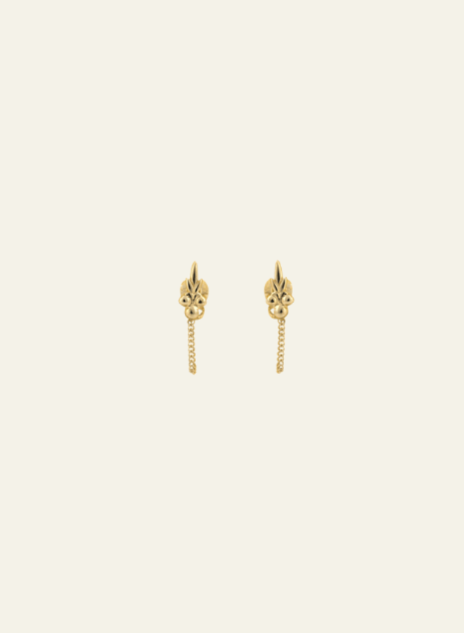 Anna+Nina Single Eden Chain Earring