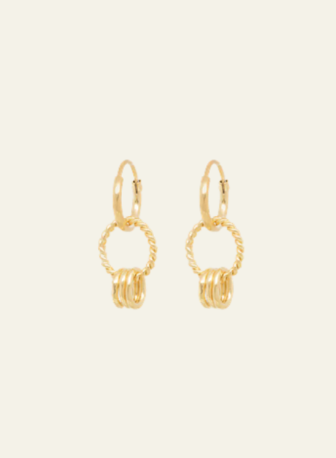 Anna+Nina Single Rope Multi Ring Earring