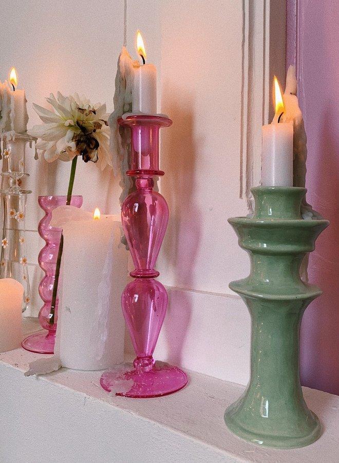 Anna + Nina Fiesta Glass Candle Holder