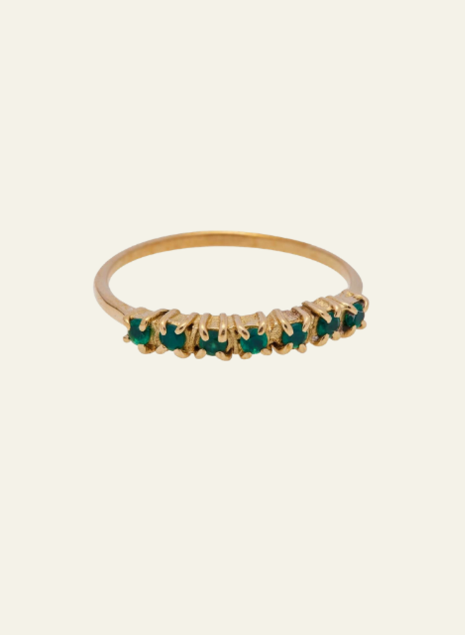 Xzota Ring Vintage Multi stone