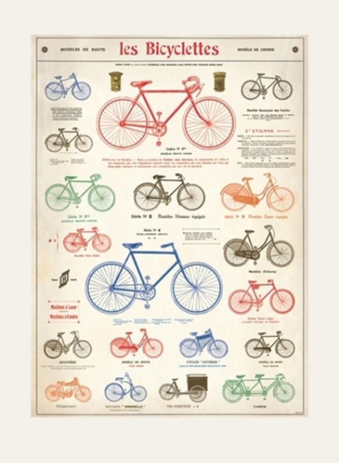 Cavallini Vintage Poster Bicylettes