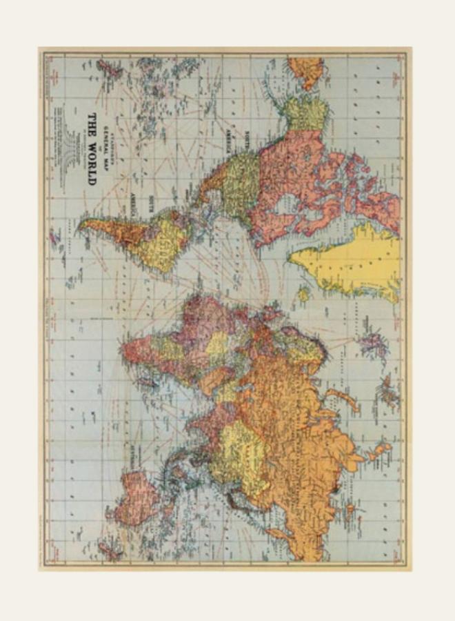 Cavallini Vintage Poster The World