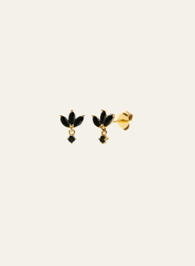 Aleyolé-Single Earring Black Oak