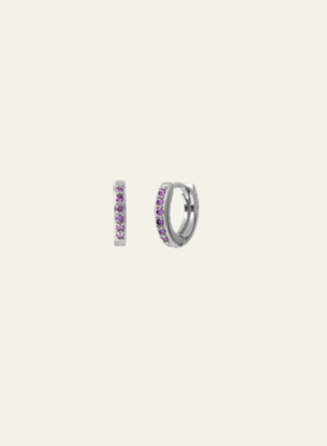 Aleyolé-Single Earring Violet Mini Bali