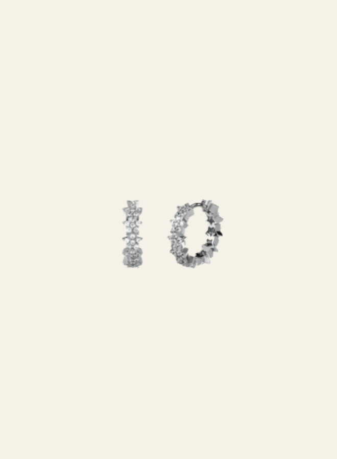 Aleyolé-Single Earring Opera Silver (Per stuk)