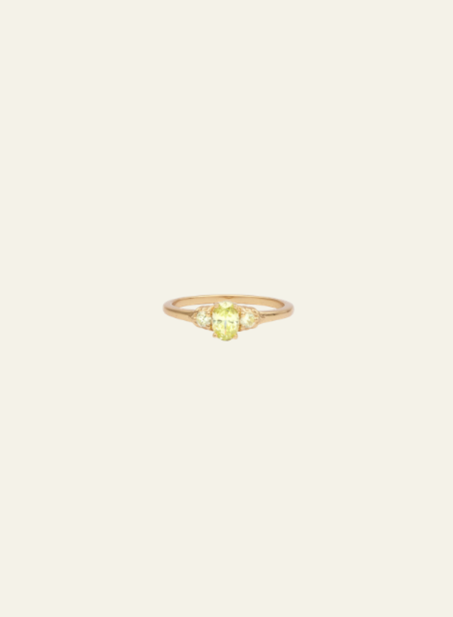 All the Luck in the World - Ring Chérie Oval Small Lime