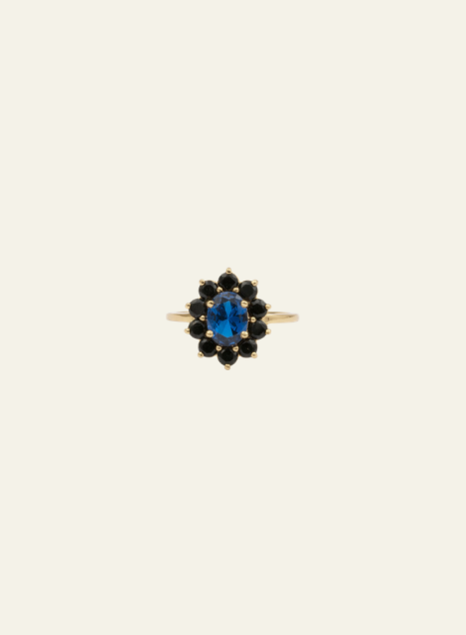 All the Luck in the World - Ring Chérie Flower Dark Blue