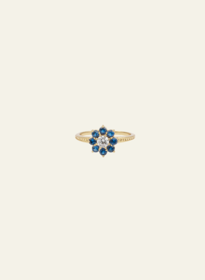 All the Luck in the World  - Ring Chérie Flower Blue Clear