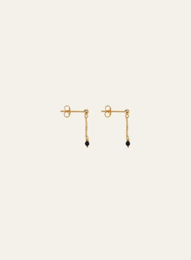 Xzota Earring Onyx Chain