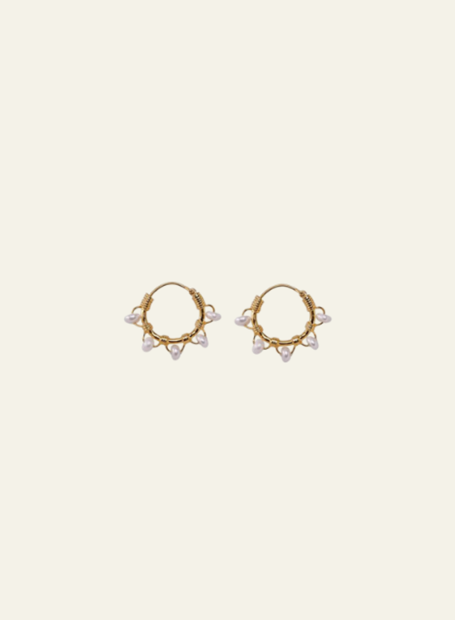 Xzota Earring Tiny Pearl Hoop
