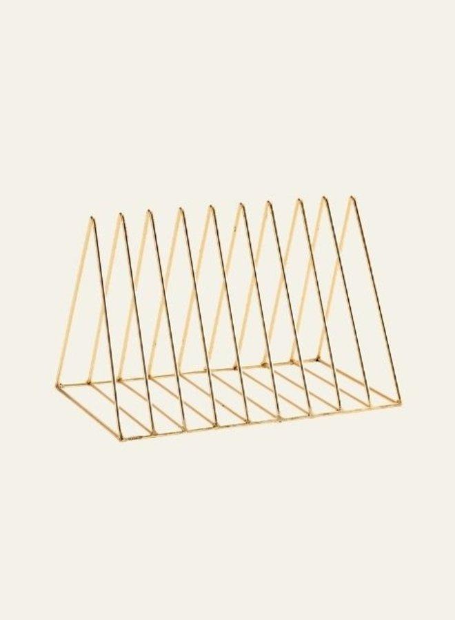 Madam Stoltz Plate rack Gold Large