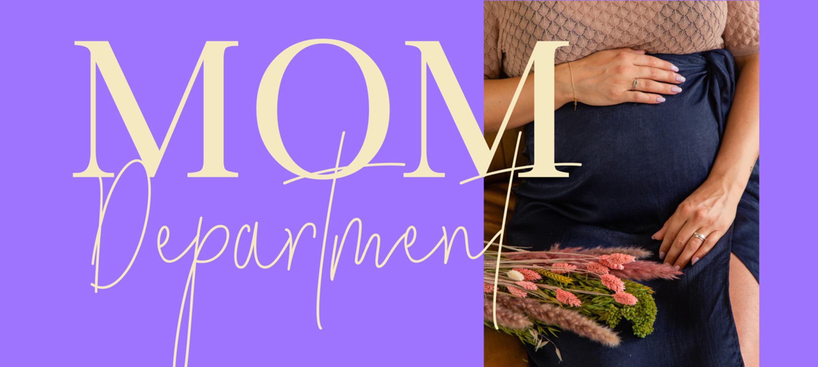 De MOM Department:  hippe zwangerschapkleding