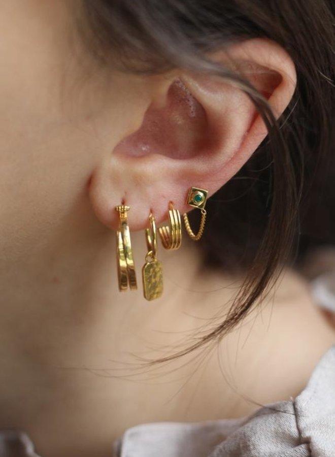 Xzota Earring Small Stripe Hoop