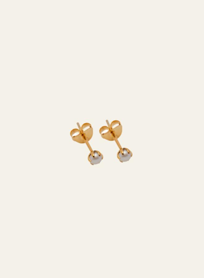 Xzota Earring Tiny Pearl Stud