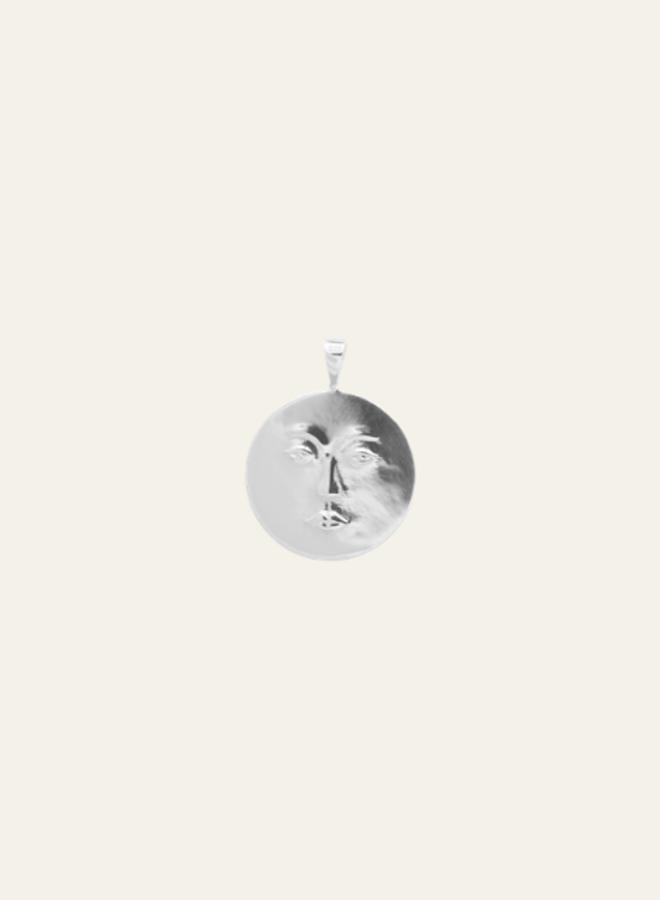 Anna + Nina Single Charm Necklace Lunar