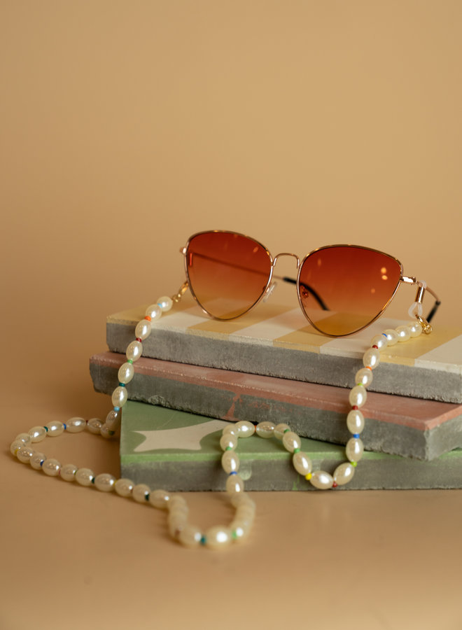 Make My Day Sunglasses Cord Colorful Pearls