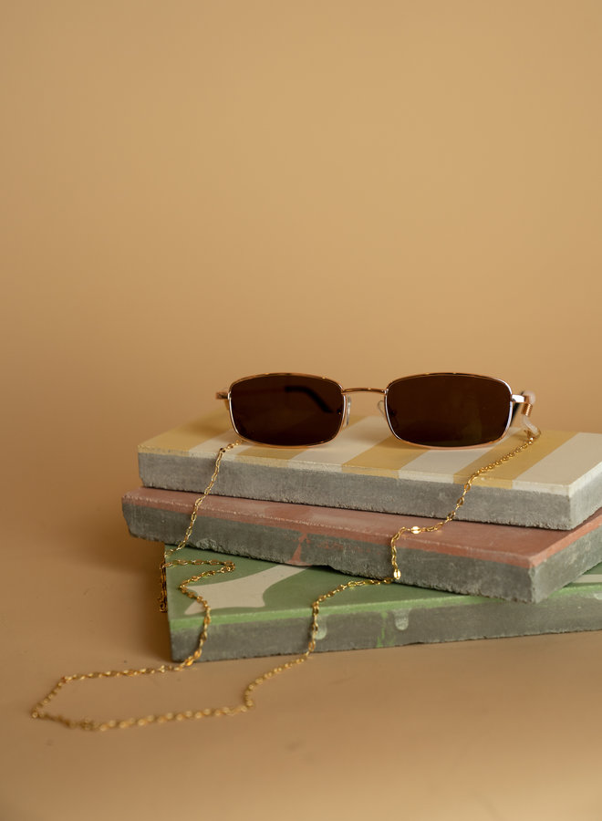 Make My Day Sunglasses Gold Chain