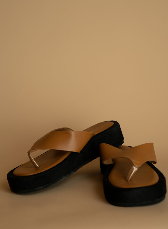 Make My Day Platform Toe Sandal