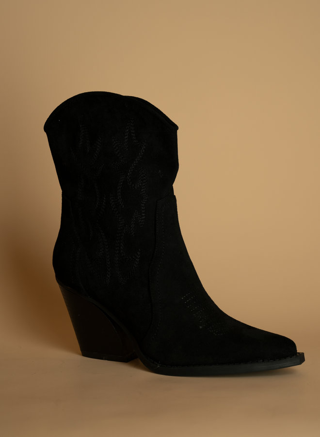 Make My Day Suede Cowboy Boots