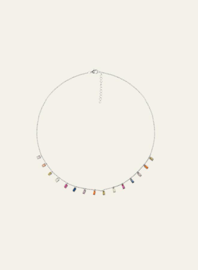 Aleyole Necklace Titanium Silver