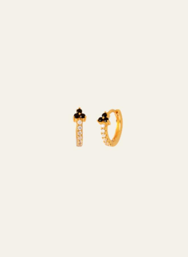 Aleyolé Single Earring Black Zola Gold
