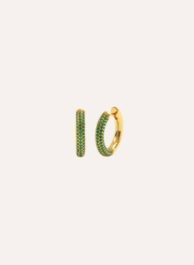 Aleyole Gold Garnet Earring