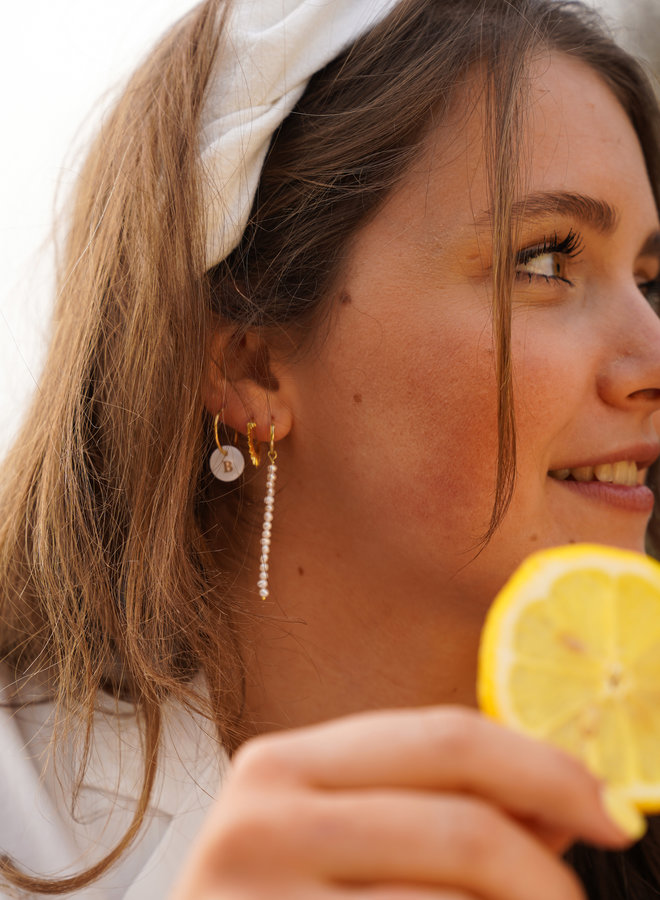 Anna + Nina Single Pearl Rain Ring Earring