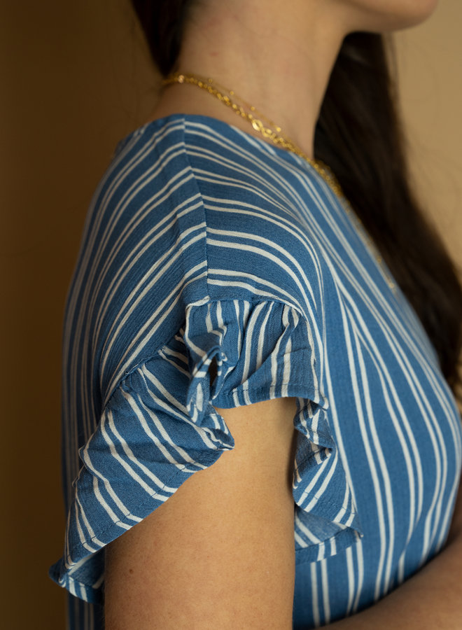Ichi Marrakech Short Sleeve Top