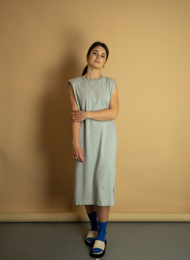 Make My Day T-shirt Dress Padded Shoulders