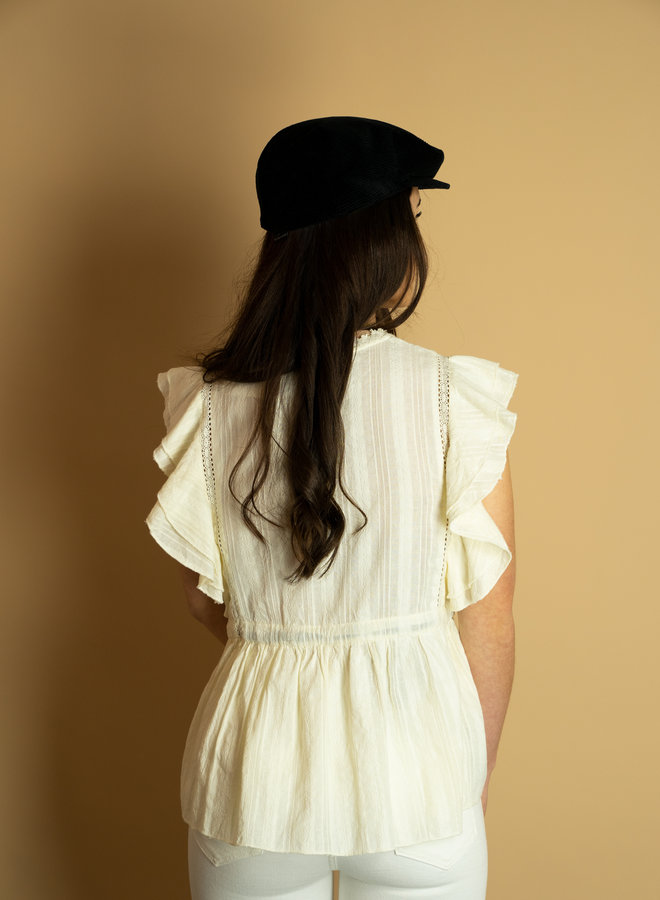 Make My Day White Blouse With Bow