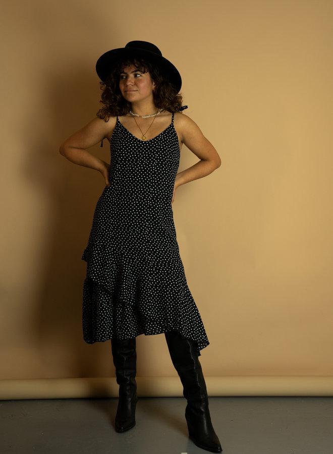 Make My Day Sleeveless Polkadot Dress