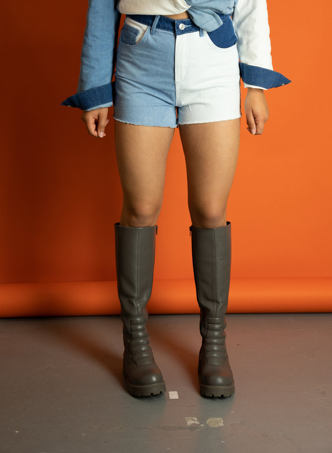 Make My Day Patchwork Denim Shorts