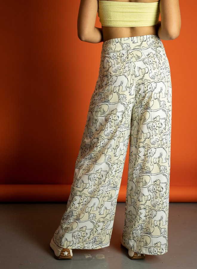 Make My Day Elephant Print Pantalon