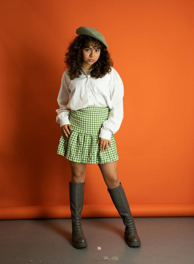 Make My Day Mini Skirt Elastic Check