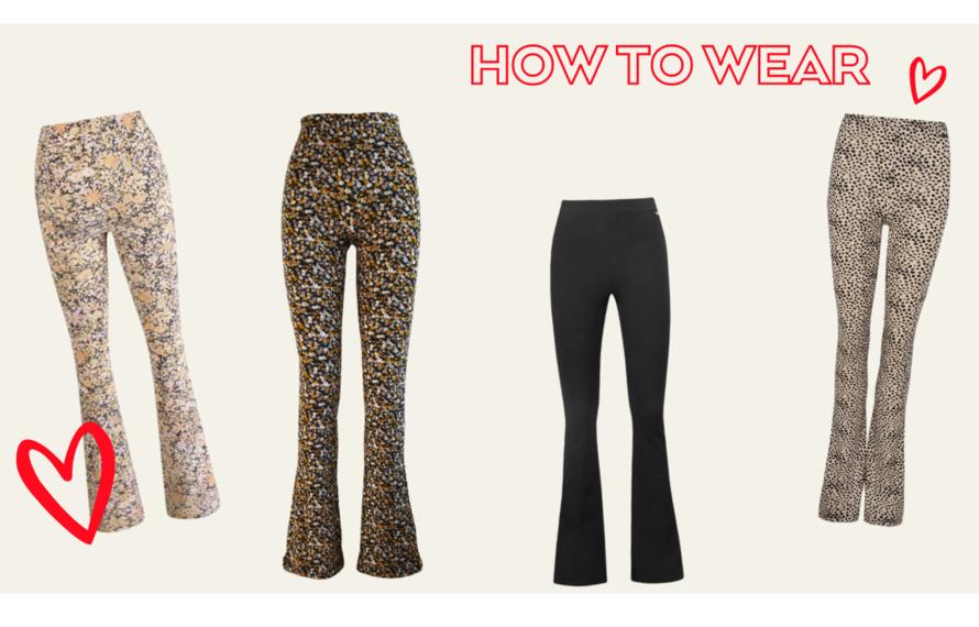 Flared legging: hoe te dragen
