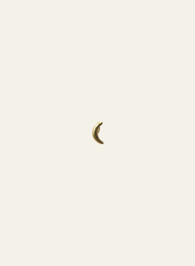 Make My Day Minimal Moon Stud Earring