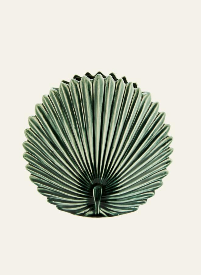 Madam Stoltz Stoneware Leaf Vaas