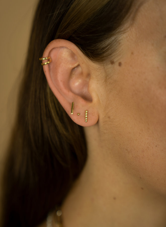 Make My Day Minimal Bar stud Earring