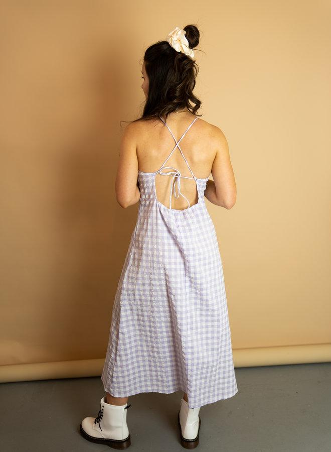 Make My Day Check Maxi Dress