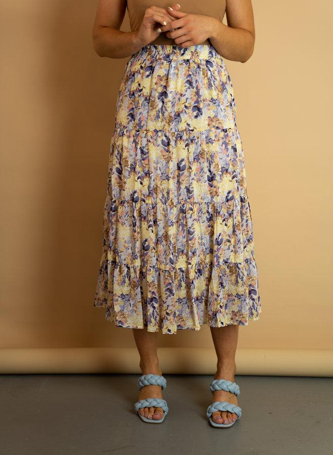 Make My Day Midi Skirt Flowers