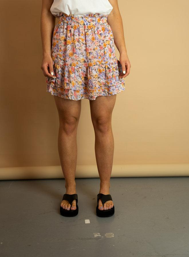 Make My Day Ruffled Mini Skirt